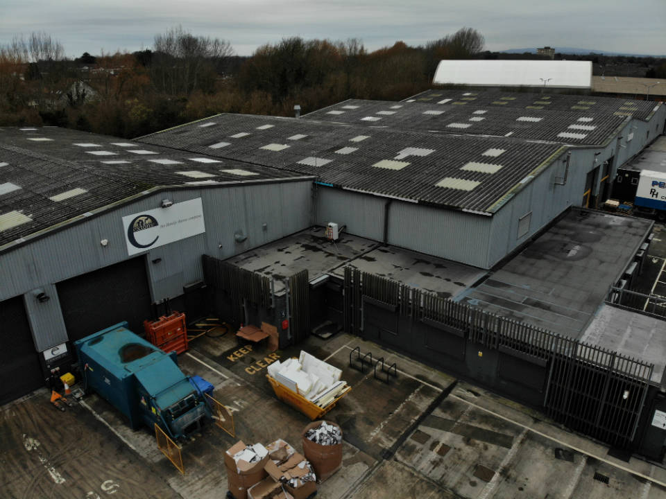 NWR Boiler Hire UK - Extons Foods Arial Site Overview
