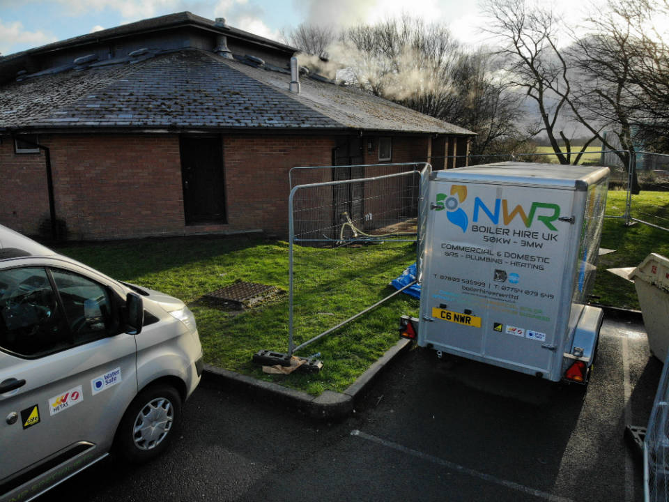 NWR Boiler Hire UK - Temporary Boilers on site